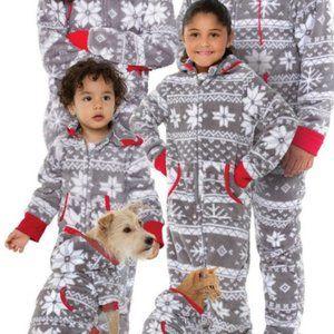Hoodie-Footie by Pajamagram Nordic Fleece Girls 10